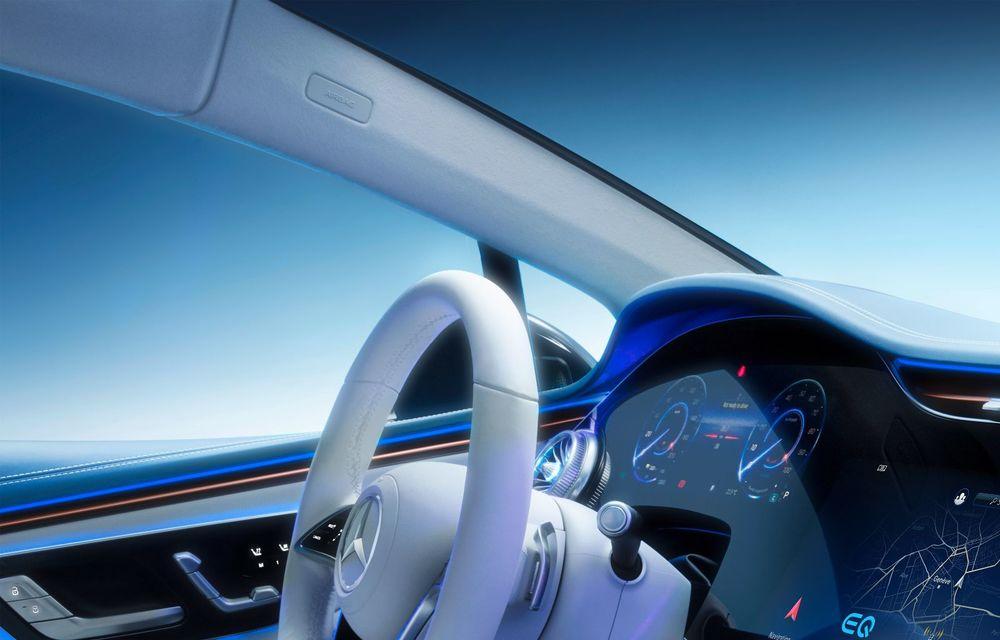 Mercedes a publicat primele imagini cu interiorul noului sedan electric EQS - Poza 8