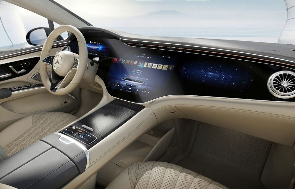 Mercedes a publicat primele imagini cu interiorul noului sedan electric EQS - Poza 32