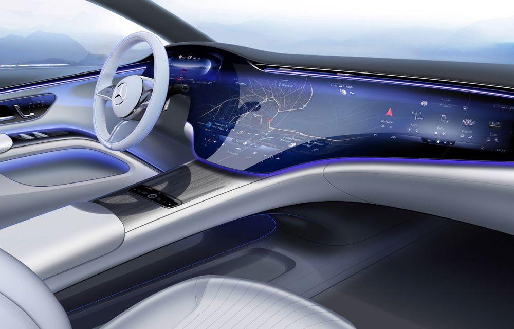 Mercedes a publicat primele imagini cu interiorul noului sedan electric EQS - Poza 22