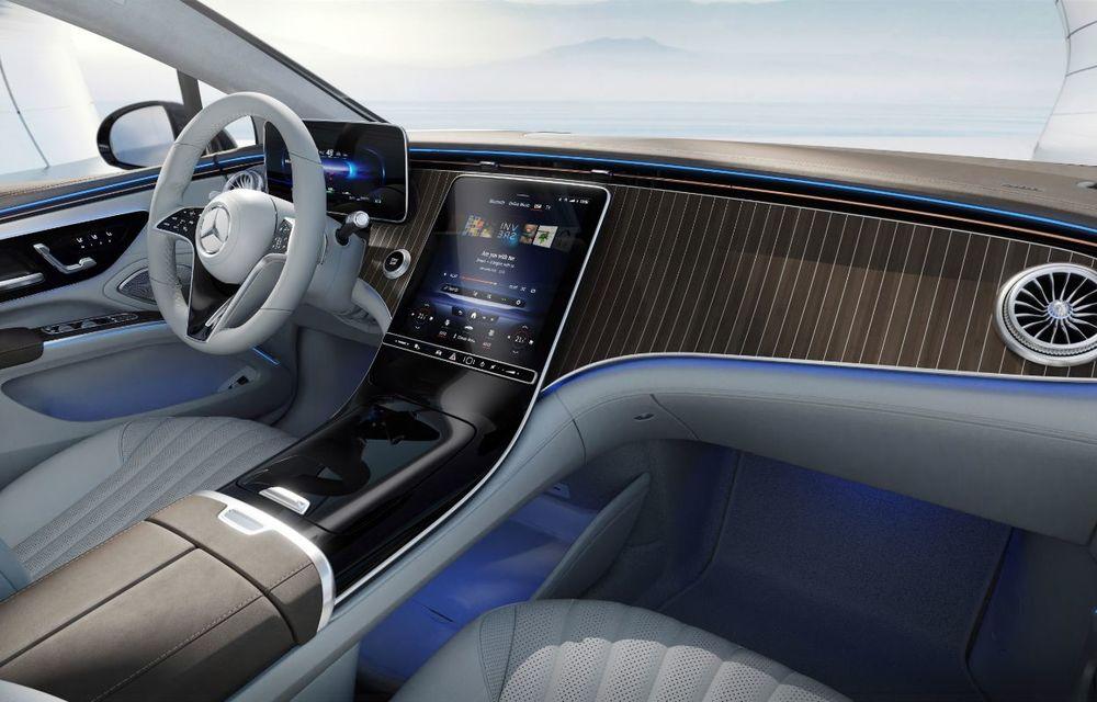 Mercedes a publicat primele imagini cu interiorul noului sedan electric EQS - Poza 11