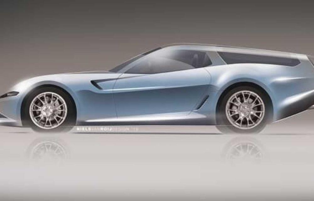 Concept olandez, omagiu adus legendarului Ferrari Daytona Shooting Brake - Poza 3