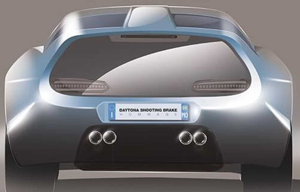 Concept olandez, omagiu adus legendarului Ferrari Daytona Shooting Brake - Poza 4