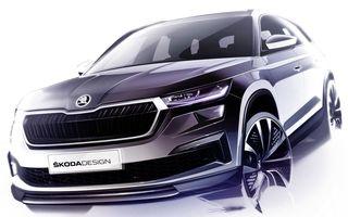 Primele schițe cu Skoda Kodiaq facelift: prezentare în 13 aprilie