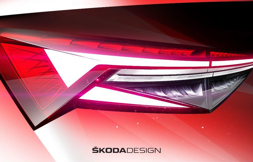 Primele schițe cu Skoda Kodiaq facelift: prezentare în 13 aprilie - Poza 4