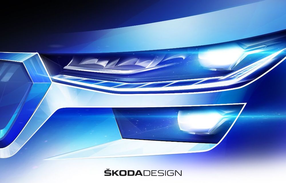 Primele schițe cu Skoda Kodiaq facelift: prezentare în 13 aprilie - Poza 3