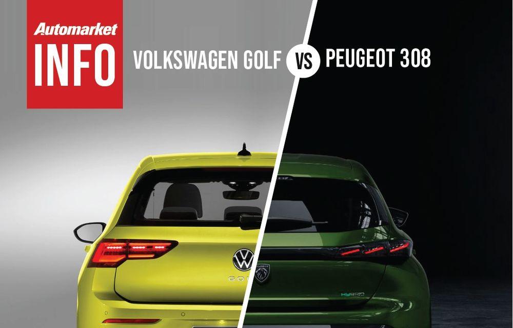 AUTOMARKET INFO: Comparație între Volkswagen Golf și Peugeot 308 - Poza 3