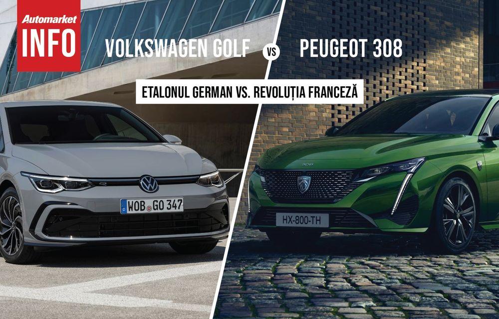 AUTOMARKET INFO: Comparație între Volkswagen Golf și Peugeot 308 - Poza 1