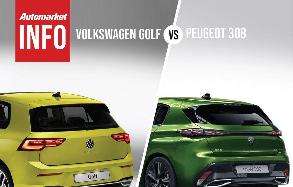 AUTOMARKET INFO: Comparație între Volkswagen Golf și Peugeot 308 - Poza 2