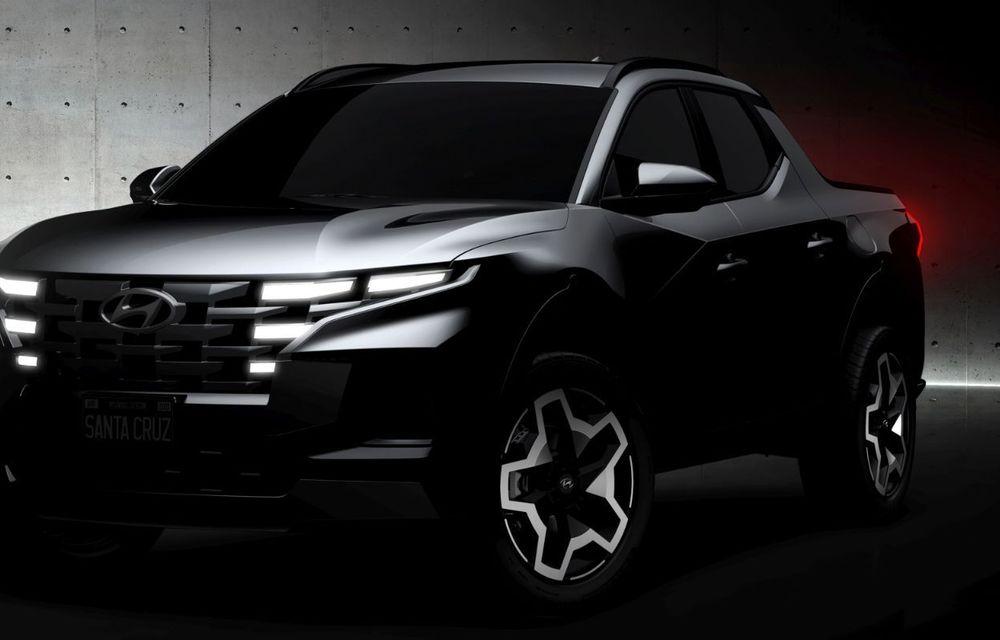 Imagini-teaser cu viitorul pick-up Hyundai Santa Cruz: prezentare în 15 aprilie - Poza 4