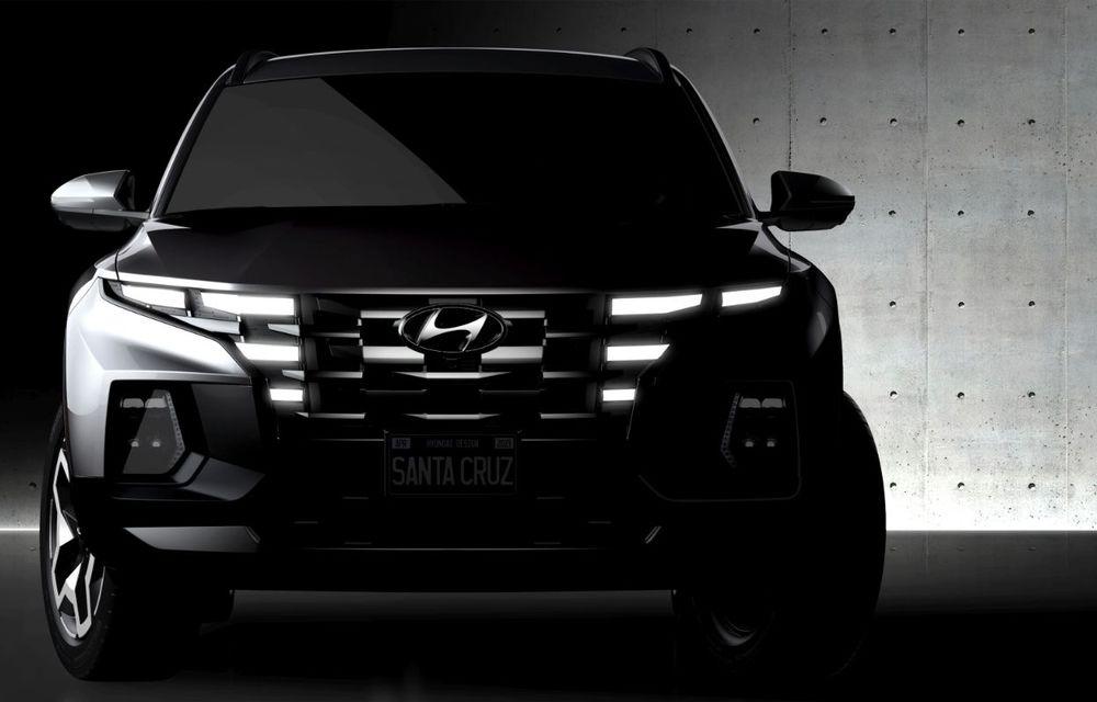 Imagini-teaser cu viitorul pick-up Hyundai Santa Cruz: prezentare în 15 aprilie - Poza 1
