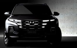 Imagini-teaser cu viitorul pick-up Hyundai Santa Cruz: prezentare în 15 aprilie
