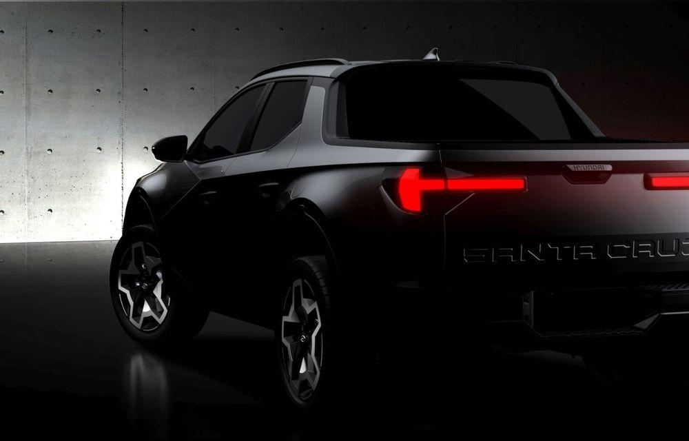 Imagini-teaser cu viitorul pick-up Hyundai Santa Cruz: prezentare în 15 aprilie - Poza 2