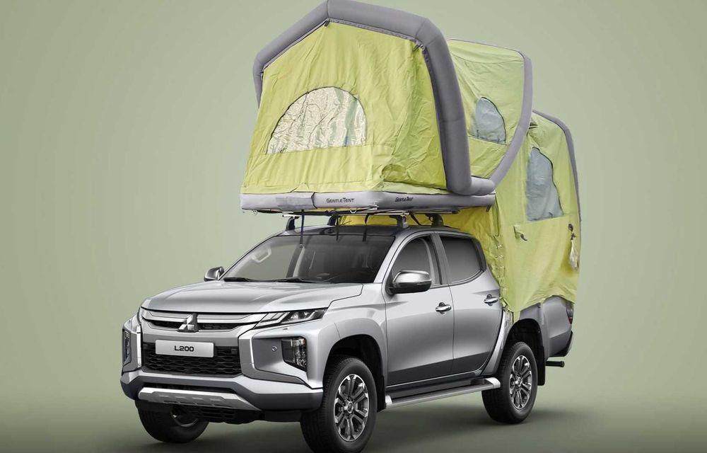 Mitsubishi comercializează în Germania un L200 cu un cort gonflabil montat pe plafon - Poza 1