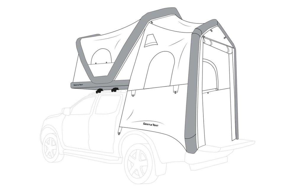 Mitsubishi comercializează în Germania un L200 cu un cort gonflabil montat pe plafon - Poza 4