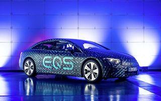Detalii tehnice pentru Mercedes EQS: peste 500 de cai putere și două opțiuni de baterie