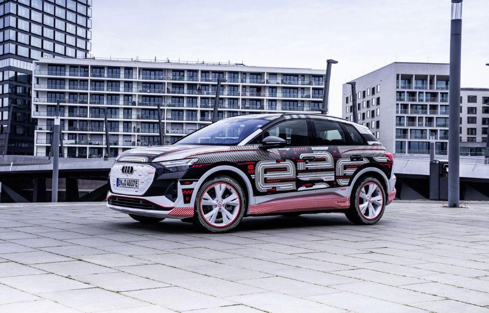 Audi a anunțat că noile Q4 e-tron și Q4 e-tron Sportback debutează în 14 aprilie - Poza 1