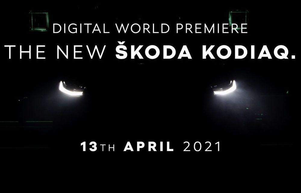 Primul teaser pentru Skoda Kodiaq facelift: prezentare va avea loc în 13 aprilie - Poza 1