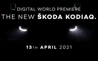 Primul teaser pentru Skoda Kodiaq facelift: prezentare va avea loc în 13 aprilie