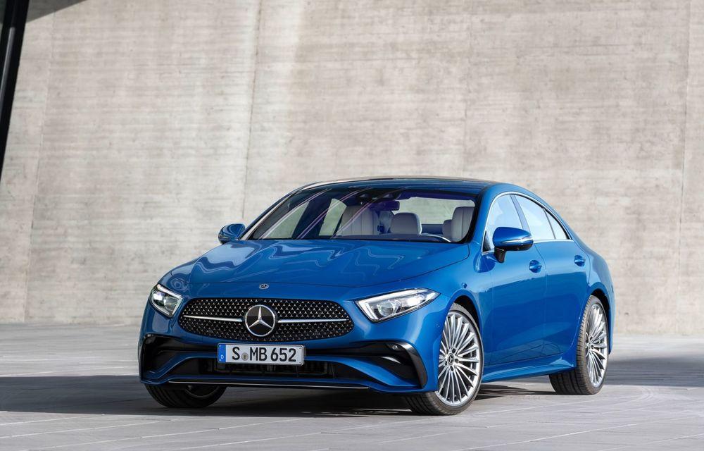 Mercedes-Benz CLS facelift: modificări estetice minore și o gamă extinsă de tapițerii - Poza 1