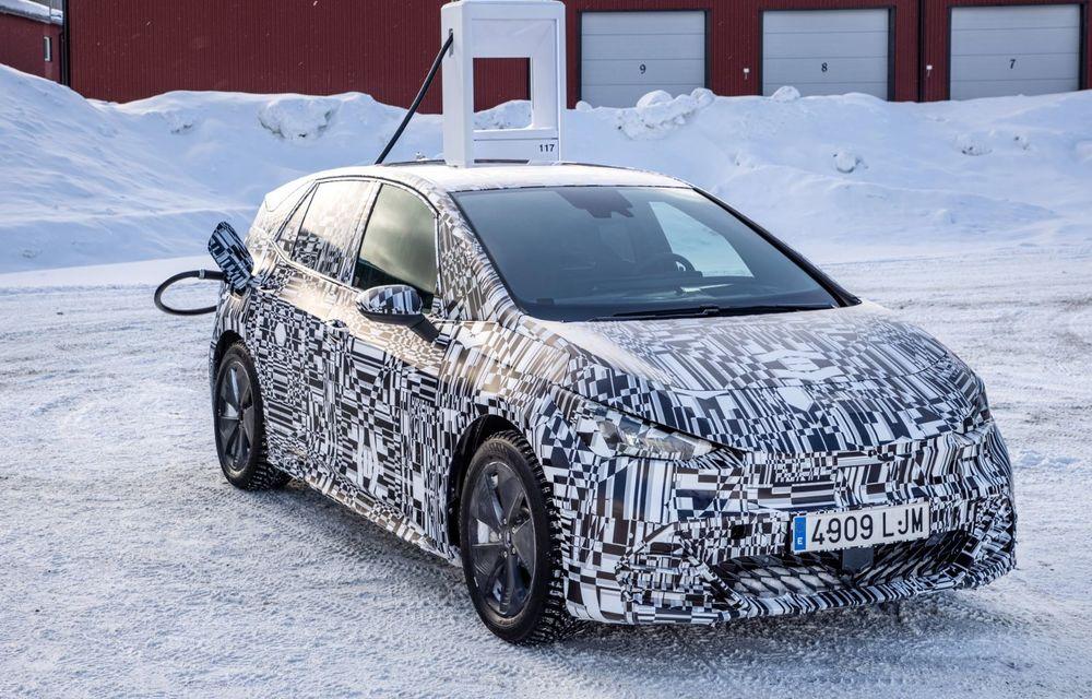 Noul Born, primul model electric Cupra, a intrat în ultimele faze de testare. Debutează la începutul lunii mai - Poza 1