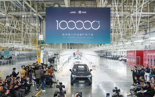 Chinezii de la Nio au atins o producție de 100.000 de mașini electrice