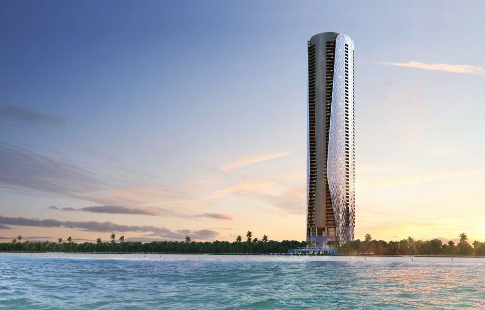 Primul turn rezidențial Bentley va avea 230 de metri înălțime și un garaj în fiecare apartament - Poza 1