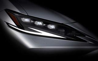 Teasere noi pentru Lexus ES facelift. Sedanul de segment mediu debutează în 19 aprilie