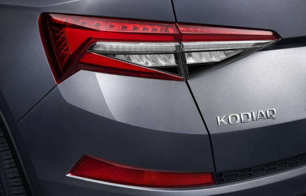 Skoda Kodiaq facelift: parte frontală restilizată și motor pe benzină pentru Kodiaq RS - Poza 43