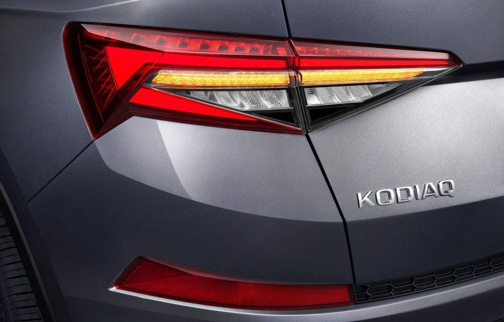 Skoda Kodiaq facelift: parte frontală restilizată și motor pe benzină pentru Kodiaq RS - Poza 41