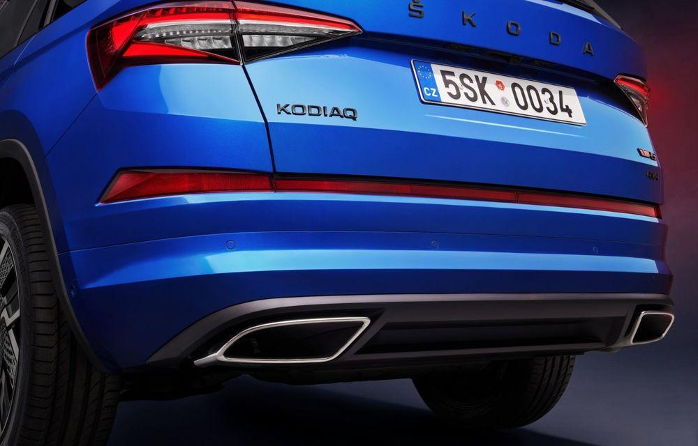 Skoda Kodiaq facelift: parte frontală restilizată și motor pe benzină pentru Kodiaq RS - Poza 36
