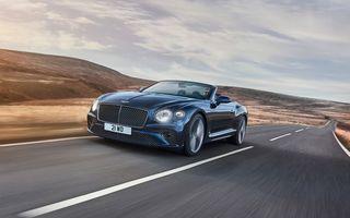 Bentley lansează noul Continental GT Speed Cabrio: 659 CP și 335 km/h viteză de top