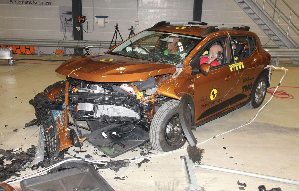 Dacia Sandero și Logan au primit 2 stele la testele EuroNCAP. Rezultatul, viciat de sistemele de siguranță - Poza 1