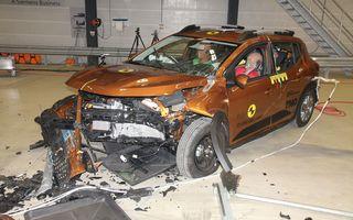 Dacia Sandero și Logan au primit 2 stele la testele EuroNCAP. Rezultatul, viciat de sistemele de siguranță