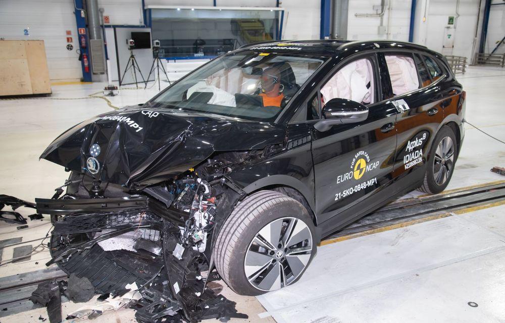 Frații electrici Skoda Enyaq iV și Volkswagen ID.4 au primit 5 stele la testele de siguranță Euro NCAP - Poza 1