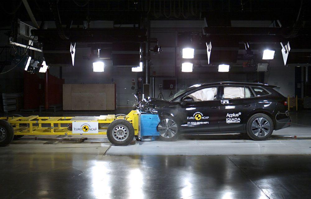 Frații electrici Skoda Enyaq iV și Volkswagen ID.4 au primit 5 stele la testele de siguranță Euro NCAP - Poza 8
