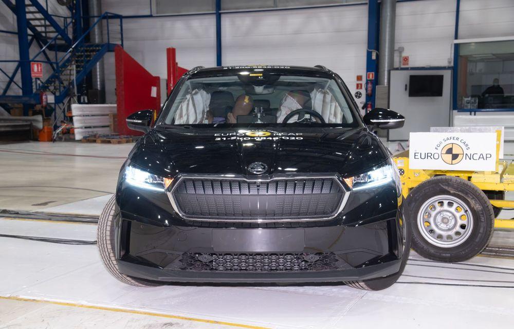 Frații electrici Skoda Enyaq iV și Volkswagen ID.4 au primit 5 stele la testele de siguranță Euro NCAP - Poza 5