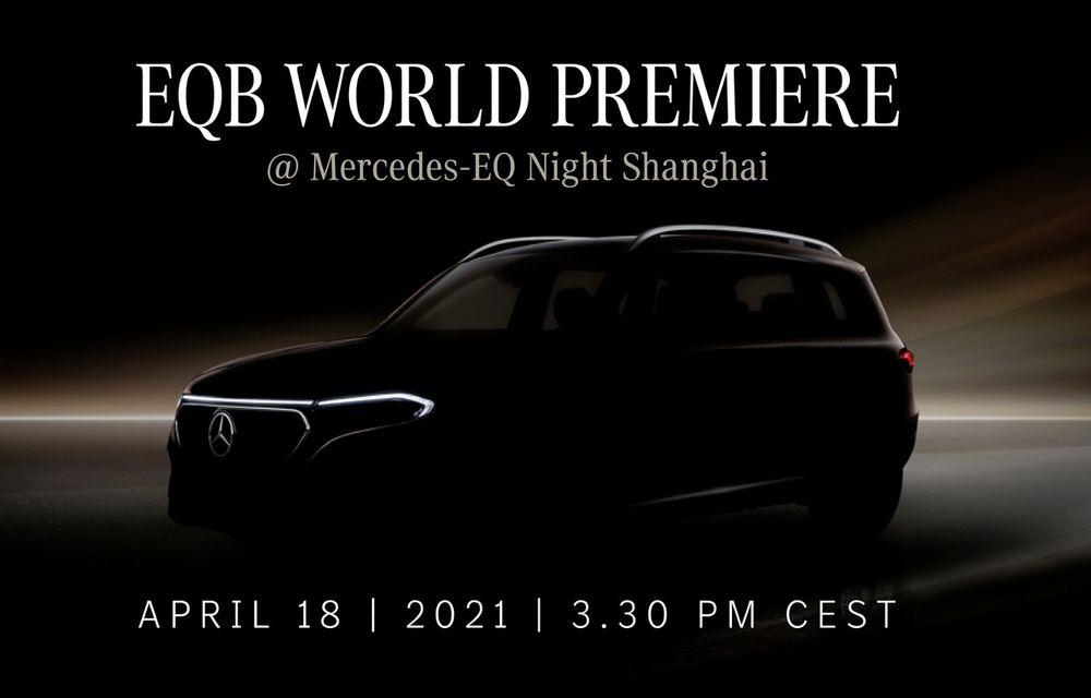 Mercedes-Benz publică un teaser pentru noul SUV electric EQB. Debutează în 18 aprilie - Poza 1
