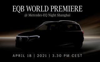 Mercedes-Benz publică un teaser pentru noul SUV electric EQB. Debutează în 18 aprilie