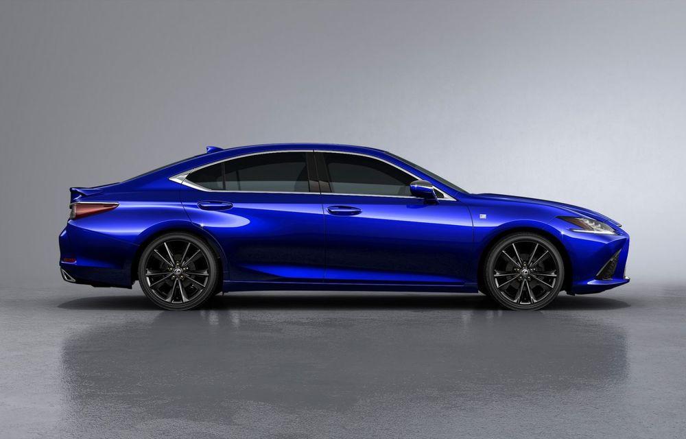 Lexus ES facelift: îmbunătățiri estetice, mai multă tehnologie și versiune nouă ES 300h F Sport - Poza 23