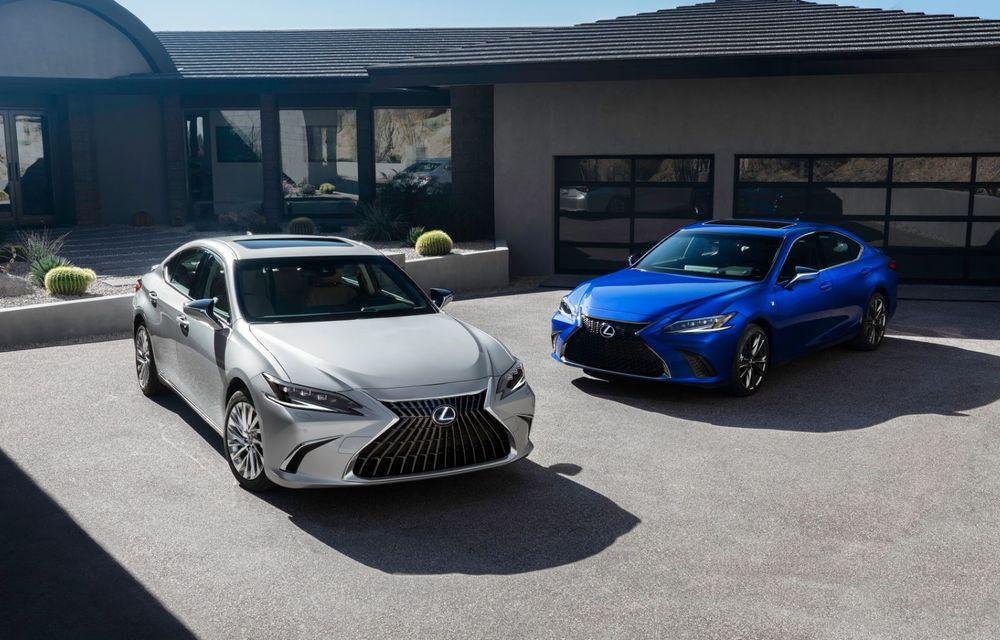 Lexus ES facelift: îmbunătățiri estetice, mai multă tehnologie și versiune nouă ES 300h F Sport - Poza 11