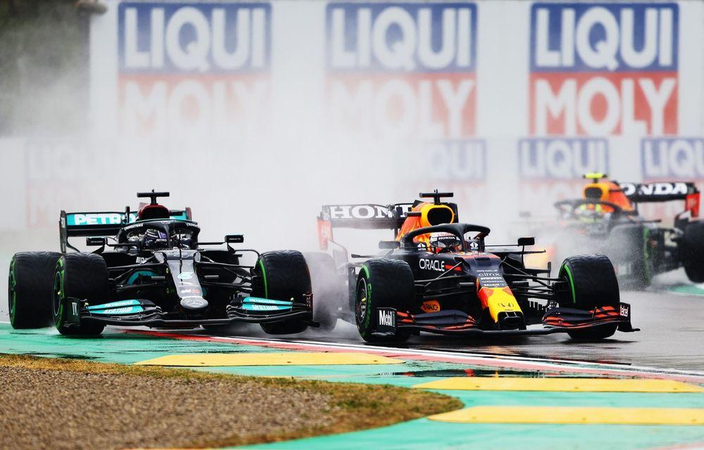 FORMULA 1: Max Verstappen, învingător la Imola. Cursa a fost oprită în turul 35 după un accident dur - Poza 1