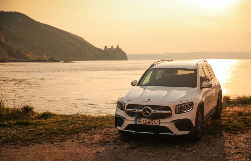 Descoperim Dunărea cu Mercedes-Benz GLB (ziua 1): Chipul lui Decebal sculptat în piatră și un hotel ca în Maldive - Poza 6