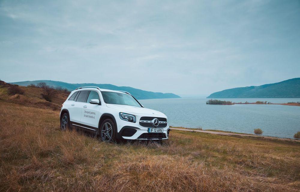 Descoperim Dunărea cu Mercedes-Benz GLB (ziua 1): Chipul lui Decebal sculptat în piatră și un hotel ca în Maldive - Poza 3