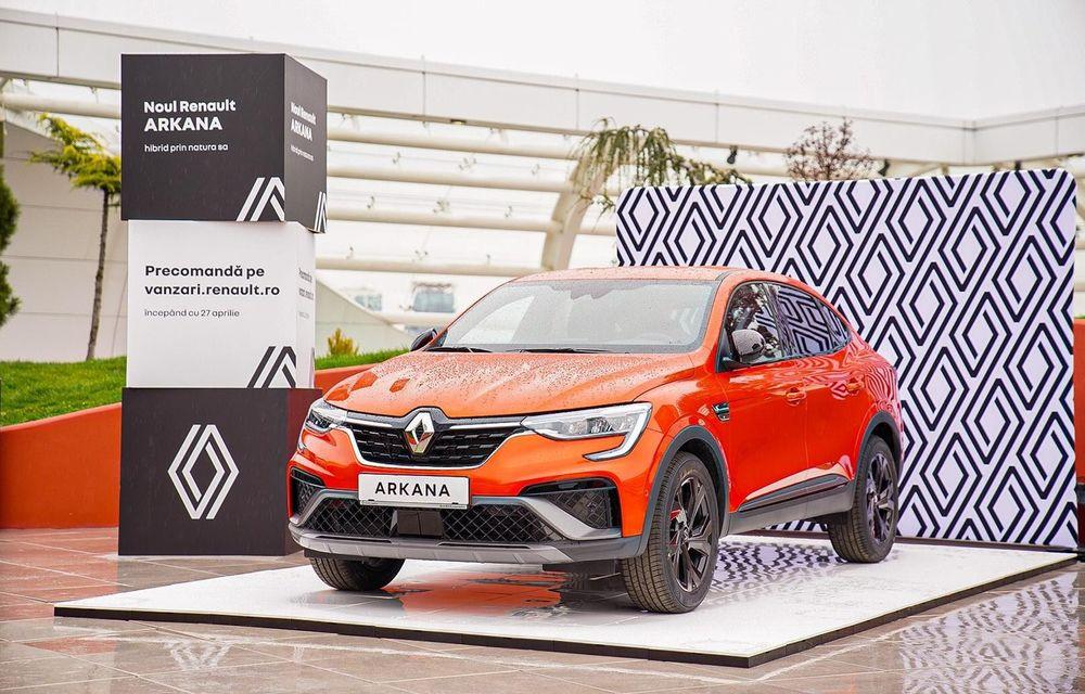 Renault Arkana poate fi precomandat în România cu prețul de 25.500 de euro - Poza 1