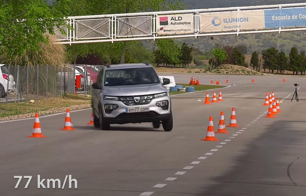 VIDEO: Rezultat surprinzător pentru Dacia Spring la testul elanului. A performat mai bine ca Honda E și Tesla Model X - Poza 1