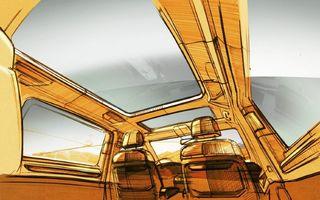 Teaser nou pentru viitorul Volkswagen Multivan: interior versatil și plafon panoramic de dimensiuni considerabile