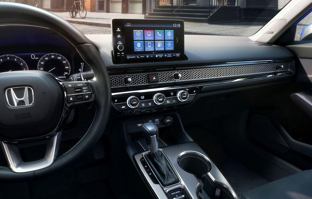 Noua generație Honda Civic debutează cu un design nou, interior elegant și mai multă tehnologie - Poza 13