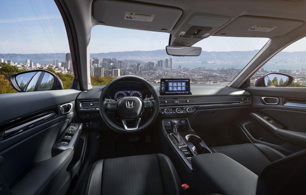 Noua generație Honda Civic debutează cu un design nou, interior elegant și mai multă tehnologie - Poza 10