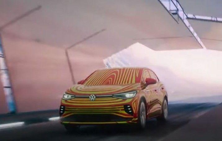 Noul ID.5 apare într-un teaser publicat de Volkswagen. Varianta coupe a lui ID.4 va avea și versiune GTX - Poza 1