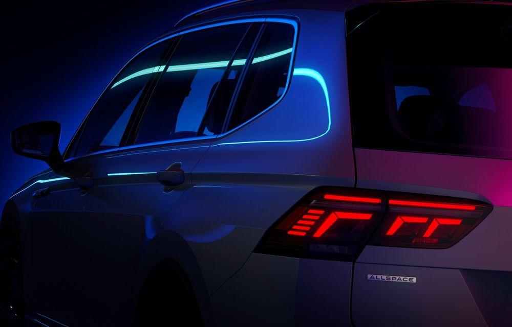 Teaser nou pentru Volkswagen Tiguan Allspace facelift. Debutează în 12 mai - Poza 1